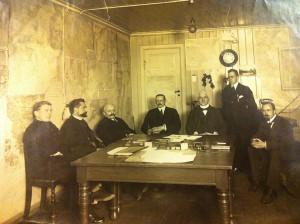 Kystcentralen ved Københavns Hovedtelegrafstation, cirka 1915. (Post & Tele Museum)